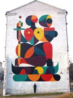 Guilo Remeda aka Remed es un artista nacido en Lille, Francia. Empezó a saber que era posible ser artista una vez terminados los estudios, aunque hace arte desde mucho antes. A los 18 años conoció las pinturas de Modigliani, el graffiti y a diferentes artistas. A partir de ahí empezó a experimentar con diferentes técnicas que le permitieran desarrollar un estilo propio, más tarde tomo la decisión de  ir más allá de los límites impuestos por el marco de un cuadro.