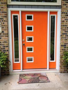 Modern Front Double Doors diy midcentury modern double doors - the cosmic ranch | midcentury