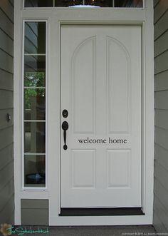 Welcome Home (simple) Front Door Vinyl Wall Art Graphic Stickers Decals 1241