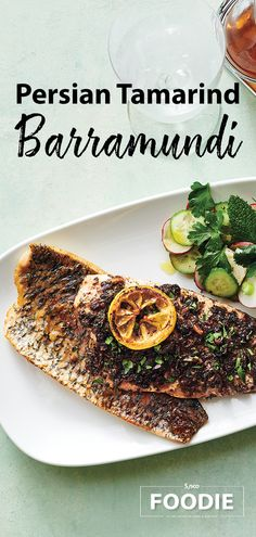 Use responsibly sourced barramundi and Persian ingredients and spices for this flavorful and festive dish. Persian Tamarind Barramundi recipe by Chef Neil Doherty from Sysco Corporate. Tamarind Recipes, Kumquat Recipes, Sarma Recipe, Star Fruit Recipes, Barramundi Recipes, Tamarind Paste, Pet Water Fountain, Pie Cake, Oven Roast