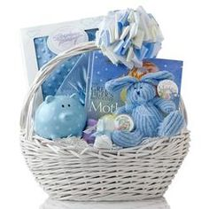 New baby a beautiful baby hamper perfect for additions baby baby boy gift basket for a babyshower negle Images
