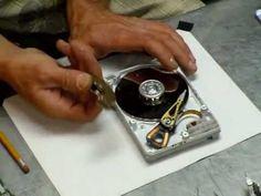 HardDrive-Bedini-Motor--Taking the hard drive apart (already apart) - Destructive - Part 1 of 2