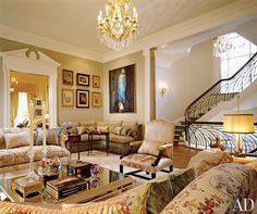 Traditional Living Room by Michael J. Siller and Ike Kligerman Barkley in Houston, Texas