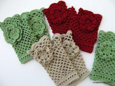 Crochet Pattern Fingerless Gloves Crochet Lace by LyubavaCrochet, $5.00