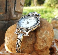 Handcrafted 925 Sterling Silver Watch Unique by PoransWatches