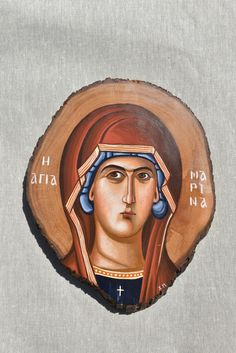 Handpainted icon on wood.Genuine sample of traditional Byzantine icon. Happy Again, Byzantine Icons, Orthodox Icons, Place Of Worship, 14th Century, Face And Body, Saints, Hand Painted, Christian