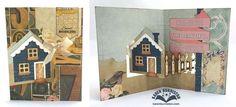 Karen Burniston using the Pop it Ups House Pivot Card die set by Karen Burniston for Elizabeth Craft Designs.
