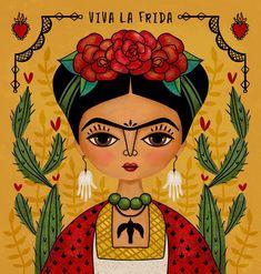 "248 Likes, 5 Comments - Anita Ashfield-Salter (@monkeymindesign) on Instagram: ""I needed another Frida fix. ❤️❤️❤️❤️ . . . . #makeartthatsells #illustratorlife…"""