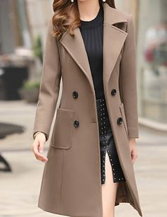 online shopping for Riva Ward Women's Daily Basic Fall & Winter Long Trench Coat, Solid Colored Turndown Long from top store. See new offer for Riva Ward Women's Daily Basic Fall & Winter Long Trench Coat, Solid Colored Turndown Long Trench Coat Outfit, Long Trench Coat, Coat Dress, Trench Coat Women, Look Fashion, Autumn Fashion, Fashion Outfits, Fashion Trends, Fashion Coat