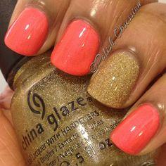 China Glaze Flirty Tankini and Angel Kiss