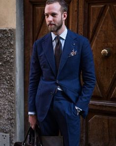 blue suiting