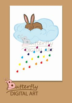 Excited to share the latest addition to my #etsy shop: bunny,rabit, wall art, nursary, woodland decor, poster, download http://etsy.me/2CebwUA #art #drawing #blue #babyshower #rainbow #printableart #nursarywallart #instantdownload #poster