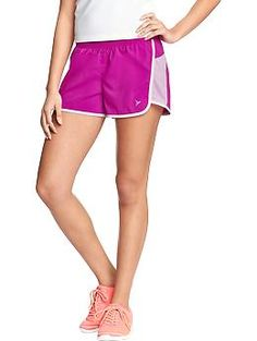 "Womens Old Navy Active Pique-Mesh Shorts (3-1/2"")"