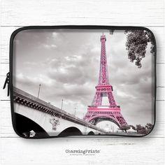 Macbook, laptop, hp, dell, tablet, ipad, pro, air, 10, 11, 13, 15, sleeve, eiffel tower, pink, paris, travel, gift, CharmingPrints™