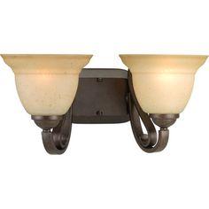 P2882-77 Progress Lighting Torino 2 light bath/vanity fixture in Forged Bronze