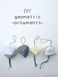 DIY Geometric Ornaments for U-Create || Owen's Olivia
