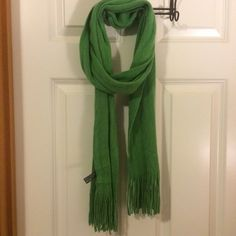 Green winter scarf Kelly green light weight winter scarf. 100% acrylic and gently used. Accessories Scarves & Wraps