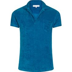 Terry - The Towelling Polo - Dive Blue