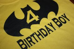 Batman Birthday Boy T shirt. $12.50, via Etsy.