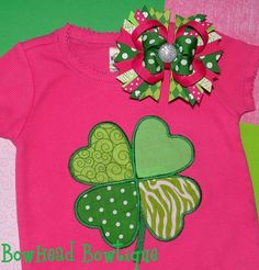 St Patrick's day shirt - so cute for a girl in pink and green! @Wendy Felts Felts Felts Felts Justice