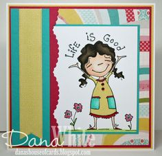 Life Is GOOD Duda card - image from Stamping Bella