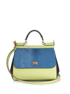 11e4b6e7414 Sicily colour-block leather tote bag   Dolce   Gabbana Bag Closet, Dolce And
