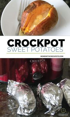Don't take up room in your oven! Pull out your slow cooker and make this easy Crockpot Sweet Potatoes Recipe for a side dish today! #crockpot #slowcooker #recipes #sidedish #vegan