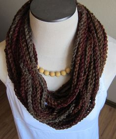 Crochet Cowl/Hooded Scarf/Necklace Scarf made with by Kitkateden, $22.00