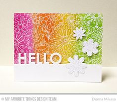 A simple die-cut word can serve as a stand-alone sentiment or accent, or be integrated into  a full on greeting when paired with the p...