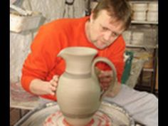 How to make a pitcher on the wheel...gotta love youtube...free pottery classes!