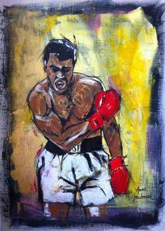 Acrylique sur toile 80 x 100 cm Portraits, Expositions, Dojo, Karate, Creations, Painting, How To Paint, Canvas, Paintings