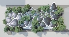 Gallery of Mask Architects Design Cooling Stations for Abu Dhabi's Urban Heat Island - 3 Urban Heat Island, Cladding Materials, Modular Structure, Urban Fabric, Climate Change Effects, Exterior Cladding, Global Design, Design Competitions, Tree Designs