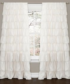 Captivating Ivory Ruffle Curtain Panel By Lush Décor #zulilyfinds
