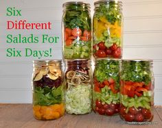 6 Different Salads For 6 Days by Food Storage Moms