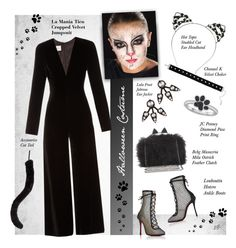 """Untitled #1145"" by louise-stuart ❤ liked on Polyvore featuring Christian Louboutin, Lulu Frost, Accessorize, Chanael K, BCBGMAXAZRIA, La Mania, halloweencostume and DIYHalloween"