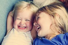 Sisters Giggling