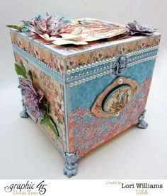 Box with Gilded Lily by Lori Williams Product Graphic 45 with Faber-Castell #graphic45
