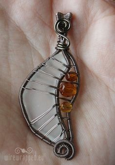 sea glass with amber