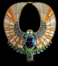 Aether Egyptian Scarab Necklace Bead by LuxVivensFashion on Etsy