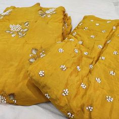 Trendy pure chinon with pearl work width @ 2800 Can be customized in any style of ur choice Fr order or more details wats app @ Embroidery Suits Punjabi, Embroidery Suits Design, Embroidery Neck Designs, Phulkari Punjabi Suits, Indian Salwar Suit, Dress Indian Style, Indian Fashion Dresses, Latest Suit Trends, Wedding Salwar Suits