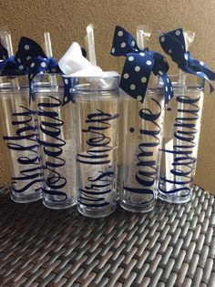 Pretty personalized water bottles