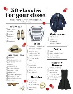 50 classics for your closet