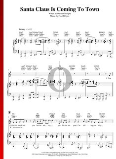 Santa Claus Is Coming To Town by The Supremes - Piano Sheet Music Santa Claus Is Coming To Town, Piano Sheet Music, The Voice, Special Occasion, Guitar, Pdf, Songs, Traditional, Holiday