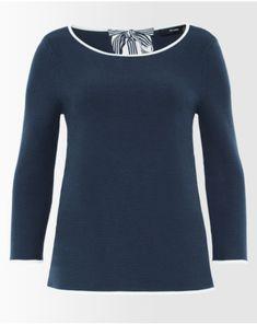 A-Linien-Pullover mit Rückenschleife - Oberteile - Bekleidung