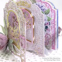 Vignettes were introduced almost 2 years ago and along the journey, our readers have begged us not to abandon the concept but to keep . Mini Scrapbook Albums, Mini Albums, Scrapbook Pages, Make A Gift, Crafts To Make, Creative Money Gifts, Vignette Design, Spellbinders Cards, Gold Paper