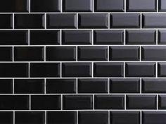 Afbeeldingsresultaat voor zwarte metrotegels keuken