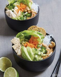 Simple spring roll bowls. Get the recipe here.