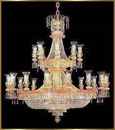 "Large Crystal Chandeliers Gallery Model: YU 1041 (50"" x 60"")"