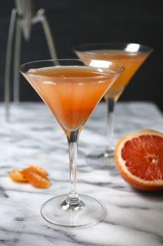 The French Blonde ½ oz. St. Germain 1 oz. Hendricks Dry Gin 2 oz. White Lillet 2 oz. fresh grapefruit juice (pink or regular) A few dashes lemon bitters