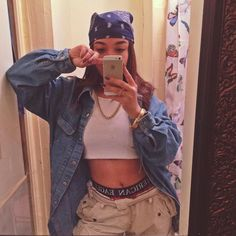 hip hop outfits for women - Montessori Selbstgemacht Vintage Outfits, Retro Outfits, Trendy Outfits, 80s Style Outfits, Style Clothes, Mode Outfits, Girl Outfits, Fashion Outfits, Fashion Fashion